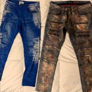 Set of 2 distress denim Jeans waist 32